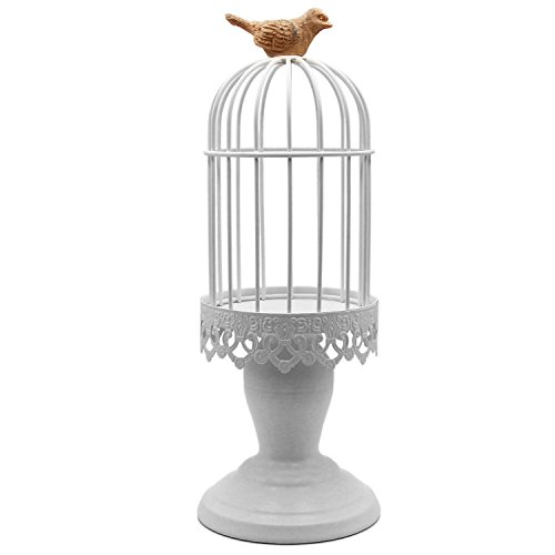 KUNGYO Candle Holder Vintage Mediterranean Style Birdcage Sh