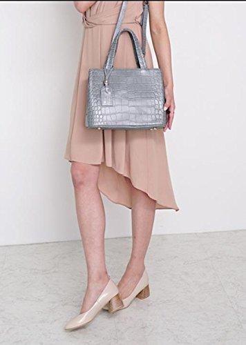 Bellina Wani Tote Shoulder Bag BB1218 (Grey) by Pristine&BB (Image #8)