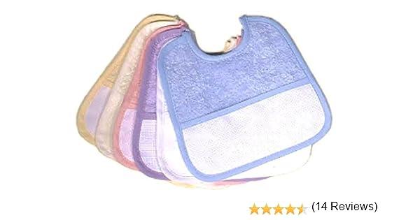 Babero de rizo Multicolor Lote 6 piezas BIANCO: Amazon.es: Bebé