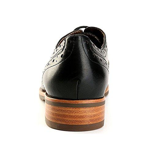Alexis Leroy Derby - Zapatos de cordones para mujer Negro