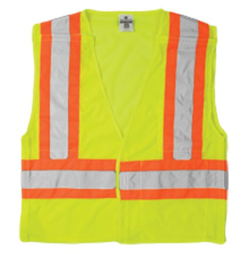 ML Kishigo 1174 Ultra-Cool Polyester Mesh Breakaway Vest, Extra Large, Lime