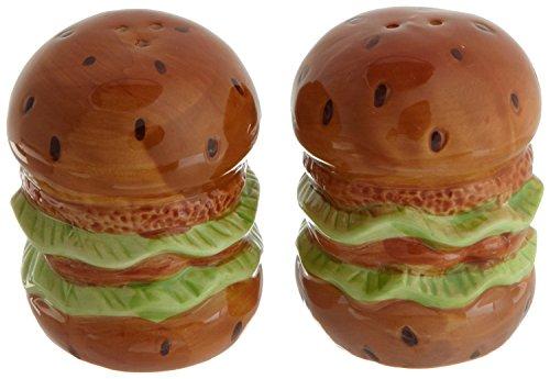 Hamburger Salt & Pepper Ceramic Shaker Set of 2