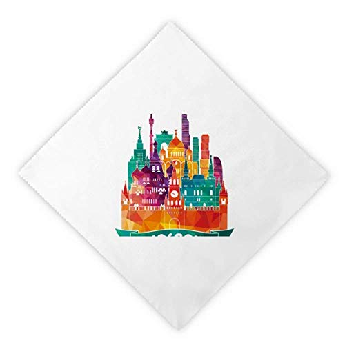 DIYthinker Moscow Cathedral Painting Russia Dinner Napkins Lunch White Reusable Cloth 2pcs ()