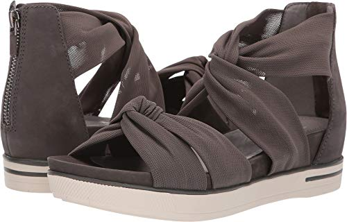 Eileen Fisher Womens Zanya Mesh Sneaker Graphite Stretch Mesh/Tumbled Nubuck Sandal - 7.5 from Eileen Fisher