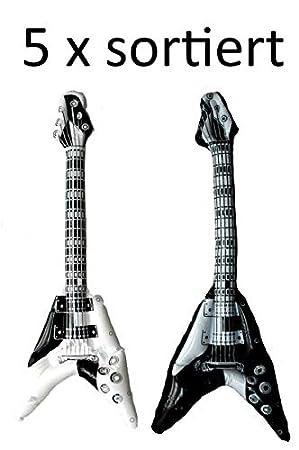 aufblasbare Gitarre in schwarz oder weiß KG-Hamburg