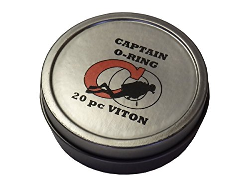 Captain O-Ring Deluxe 20pc VITON Save-A-Dive O-Ring Kit for Scuba Diving Tank Valves, Hoses, Regulators, Dive Cameras, Etc (Diver) (Kit O-ring Dive)