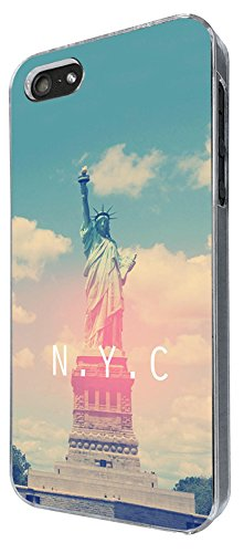 003408 - Statue of Liberty New York NYC Design iphone 4 4S Coque Fashion Trend Case Coque Protection Cover plastique et métal - Clear