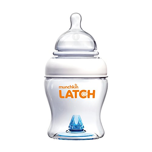 Munchkin Latch Anti-Colic Baby Bottle with Ultra Flexible Breast-like Nipple, BPA Free, 4 Ounce (Hole Single Spout Elongated)