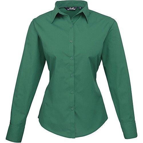 pour en Chemisier longues manches Emerald en femme popeline Premier HnXAOO