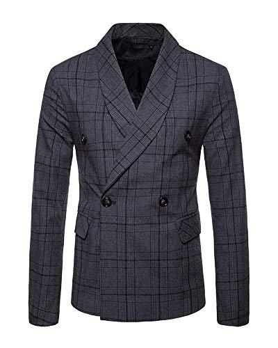 Homme Veste Fit Blazer A Casual De Carreaux Gris Pour Foncé Slim Vintage Costume vx0YqvAwXr