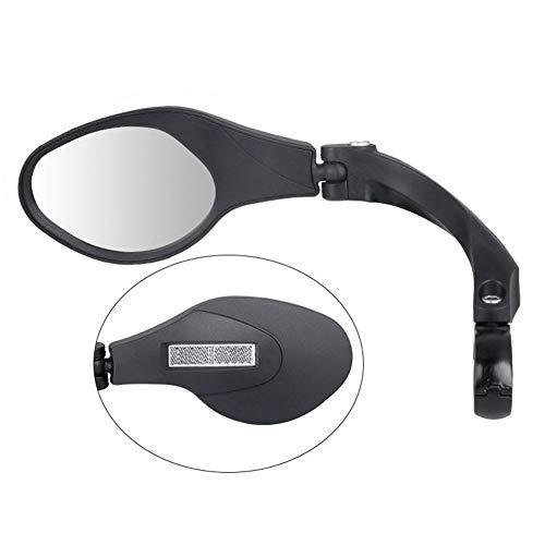 FairOnly Universele RVS Lens Stuur Fiets Spiegel Veilige Achteruitkijkspiegel