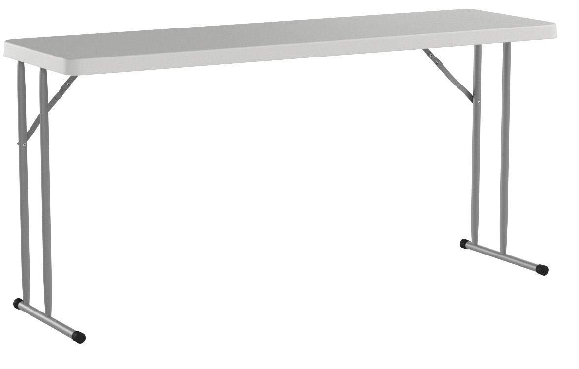 Flash Furniture 18''W x 60''L Granite White Plastic Folding Training Table [RB-1860-GG] by Flash Furniture