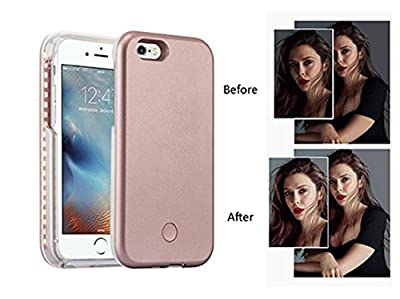 PopSmart Selfie Light iPhone Case 6 6s ,Rose Gold by PopSmart