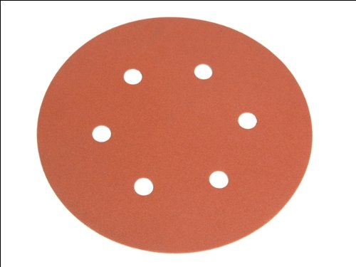 Faithfull Hook/Loop Sanding Disc 150mm DID2 x5 Med Fine
