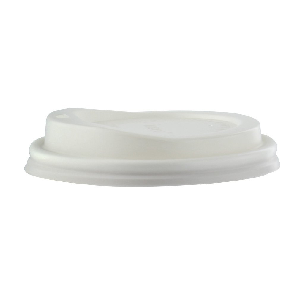 PacknWood PLA Plastic Lid for 8 oz., 10 oz., 12 oz., 16 oz. and 20 oz. Paper Cups (Case of 1000)