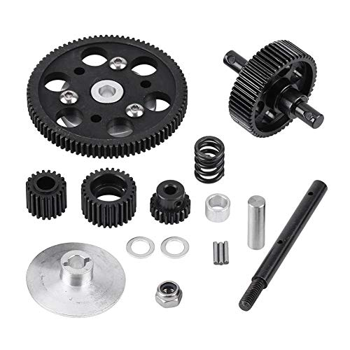 Dilwe RC Car Straight Gear, Metal RC Center Gearbox Straight Gears Set for SCX10 RC Model Car Component Parts Accessories