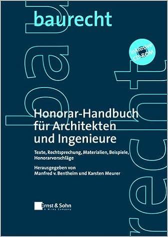 Buy Honorar Handbuch Fur Architekten Und Ingenieure Texte