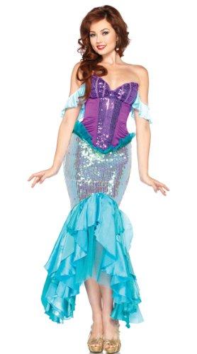 Merman Halloween Costume (Halloween women costume merman cosplay dress(6865-83) (free size))