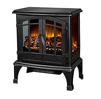Argo Furniture Jax Infrared Freestanding Portable Compact Electric Fireplace