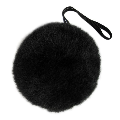SeasonsTrading Black Plush Bunny Tail ~ Halloween Bear Easter Rabbit -