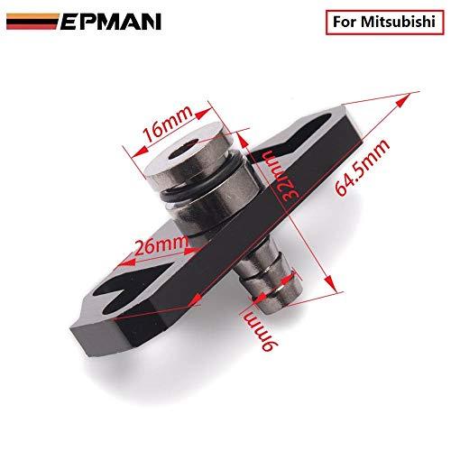 1Pcs Epman Black Fuel Regulator Delivery Adapter for Sard Regulator Fit for Mitsubishi TK-OL6352 (1PC)