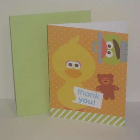 American Greetings Baby Sesame Street Thank You Gift Note Ca