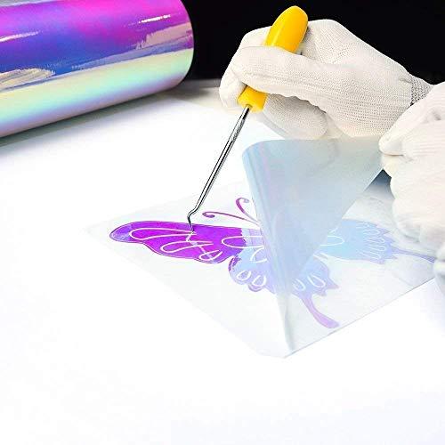 TECKWRAP Holographic Opal White Vinyl Sheets