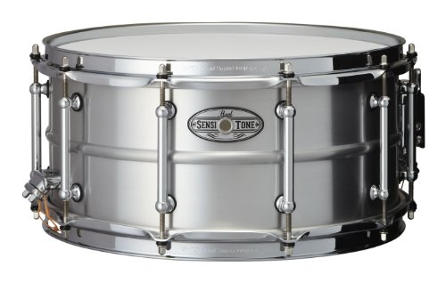 Pearl STA1465AL 14 x 6.5 Inches Sensitone Snare Drum - Beaded Seamless (Beaded Brass Snare)