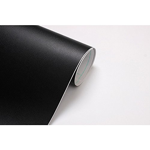 Black Leather Look Interior Vinyl Film Contact Paper Self
