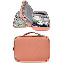 BUBM Portable Multi-Functional Digital Storage Bag Electronic Accessories Travel Organizer Bag Data Cable Organizer (Orange)