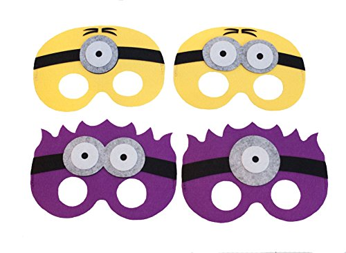Summer Inspirations Minion Felt Mask Birthday Party Gift Bag Favor Pack of 15 -