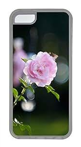 iPhone 5c case, Cute Pink Rose Bokeh iPhone 5c Cover, iPhone 5c Cases, Soft Clear iPhone 5c Covers
