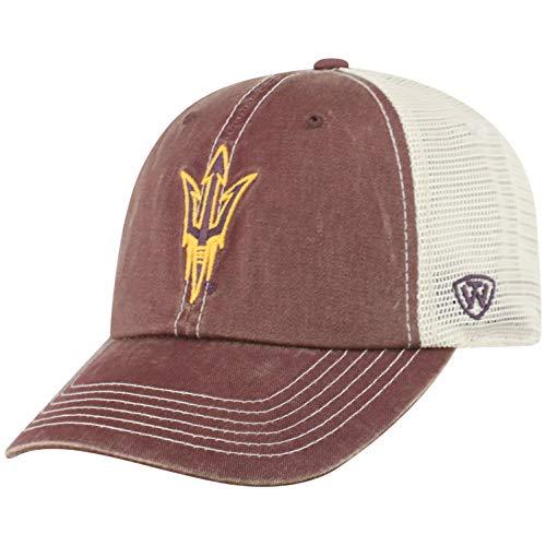 Top of the World NCAA Arizona State Sun Devils Men's Vintage Mesh Adjustable Icon Hat, Dark Maroon