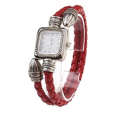 Bella relojes, PU Cuerda Banda Reloj de pulsera de cuarzo para las mujeres (Red), rojo: Amazon.es: Deportes y aire libre