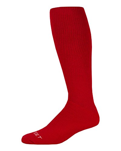Pro Feet Multi-Sport Cushioned Acrylic Tube Socks, Scarlet, Medium/Size 9-11 ()