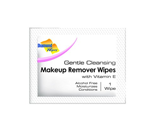 Gentle Makeup Remover Cleansing Face Wipes Facial Towelettes with Vitamin E for Waterproof Makeup Individually Sealed Wrappers Bulk Buy Pack of 500