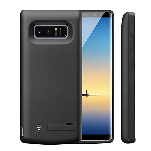 Idealforce Samsung Galaxy Note 8 Battery Case,6500mAh External Power Bank Cover Portable Charger Protective Charging Case for Samsung Galaxy Note 8 (Black) (Samsung Galaxy Note 3 Extended Battery Slim)
