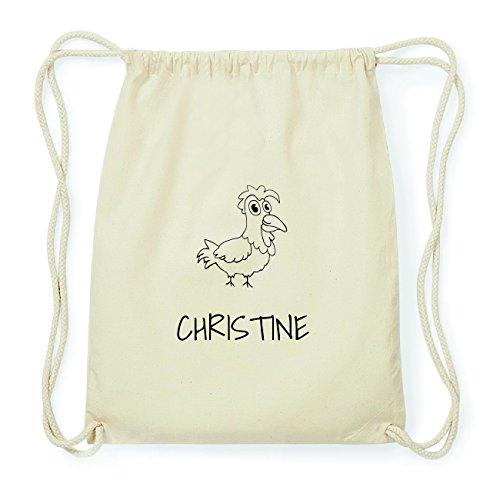 JOllipets CHRISTINE Hipster Turnbeutel Tasche Rucksack aus Baumwolle Design: Hahn