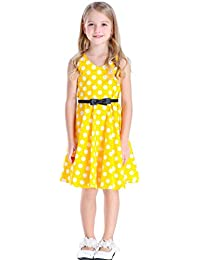 Girl's Dress Vintage Floral Party