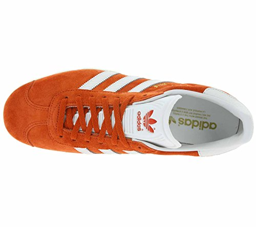 Original Adidas Unisex S76026 Zapatillas Naranja White GAZELLE Red S8FR8