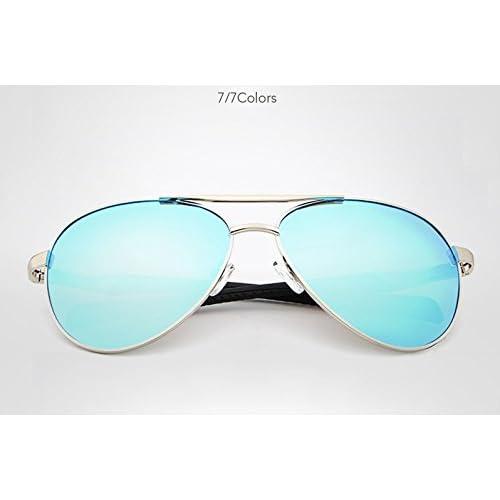 Z&YQLunettes de soleil hommes et femmes marée polarisée lunettes de soleil rétro demi-trame colorées , C