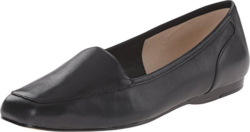 Bandolino Women's Liberty Flat,Black Leather,US 8.5 W