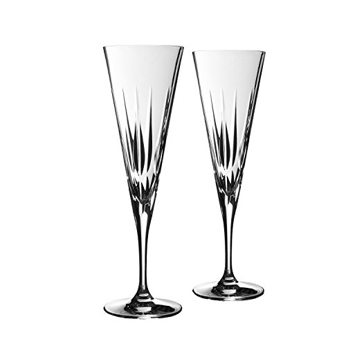 Vera Wang Wedgwood Peplum Set of 2 Toasting Flutes by Vera Wang Wedgwood
