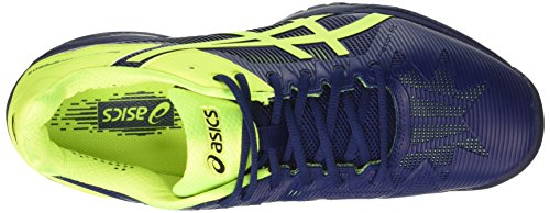 Asics Gel-Solution Speed 3, Scarpe da Tennis Uomo Blu (Indigo Blue/Safety Yellow)