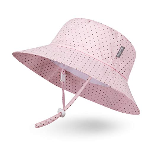 - Ami&Li tots Adjustable Sunscreen Bucket Sun Protection Summer Hat for Baby Girl Boy Infant Kid Toddler Child UPF 50