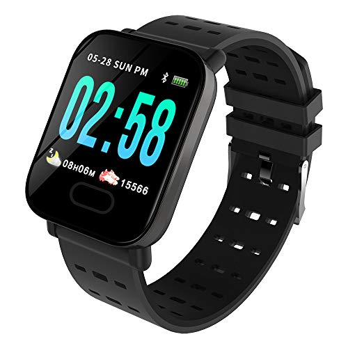 Cywulin Smart Watch Fitness Tracker, IP67 Waterproof Sport Wristband Color Screen Activity Tracking Music Camera Control Heart Rate Sleep Monitor Pedometer Calories for iOS Android Men Women (Black)