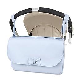 Bolso lactancia azul para carrito del bebé