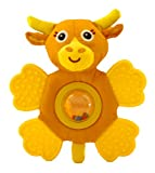Giggle Toys Little Longhorn Teether Rattle, Brown, Baby & Kids Zone