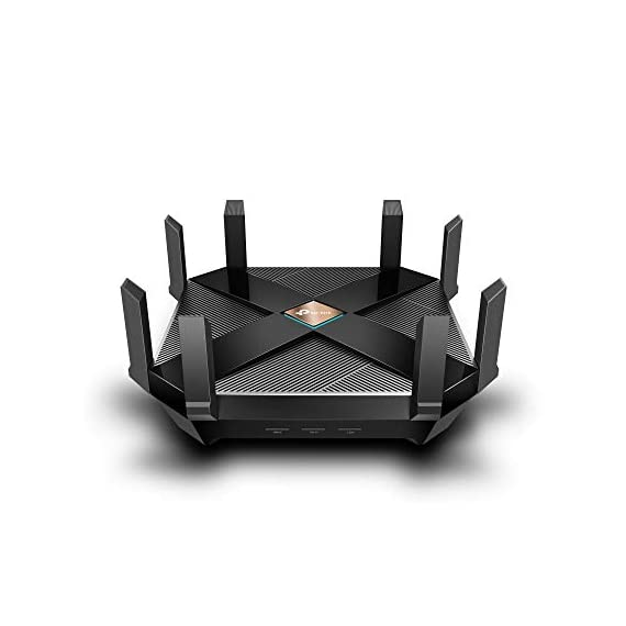 TP-Link WiFi 6 AX6000 8-Stream Smart WiFi Router - Next-Gen 802.11ax, 2.5G WAN Port, 8 Gigabit LAN Ports, MU-MIMO, 1.8GHz Quad-Core CPU, USB 3.0 Ports, Homecare Support(Archer AX6000) 1 Blazing Speed - AX6000 Dual-Band Wi-Fi speed boosted by 1024QAM deliver astonishing wireless speed up to 5952 Mbps: 4804 Mbps (5GHz) and 1148 Mbps (2.4GHz) Ultra Connectivity - 1 × 2.5Gbps WAN port, 8 × Gigabit LAN ports, and 2 × USB 3.0 in Type A and Type C Highly Efficient - OFDMA increases average throughput by 4× in high-density scenarios, compared with an 802.11ac standard router. Downlink and uplink MU-MIMO are both supported