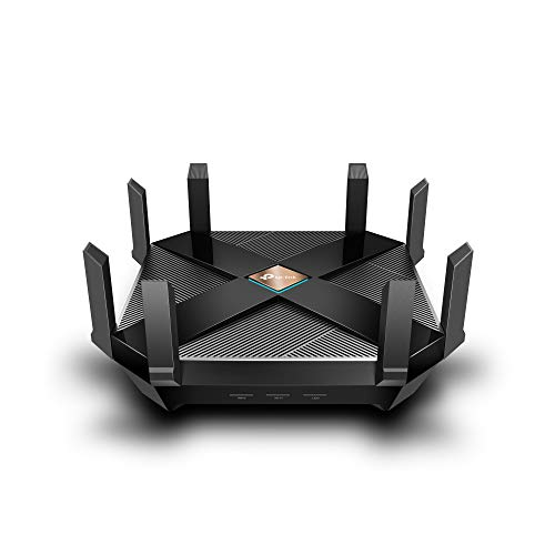 TP-Link WiFi 6 AX6000 8-Stream Smart WiFi Router - Next-Gen 802.11ax, 2.5G WAN Port, 8 Gigabit LAN Ports, MU-MIMO, 1.8GHz Quad-Core CPU, USB 3.0 Ports, Homecare Support(Archer ()